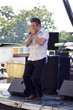 Steven De Bruyn of Rhythm Junks perform Royalty Free Stock Image