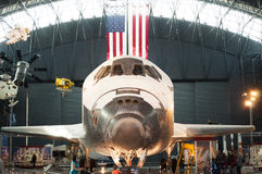 Steven F Anexo Udvar-obscuro do ar nacional de Smithsonian e do museu de espaço Foto de Stock