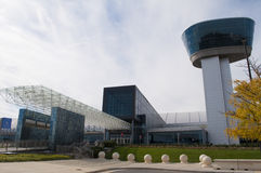 Steven F Udvar-disig Smithsonian nationell luft- och för utrymmemuseum bilaga Royaltyfri Foto