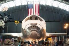 Steven F Udvar-wazige Smithsonian Nationale Lucht en Ruimtemuseumbijlage Stock Foto