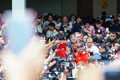 Steven Gerrard   dans l'hôpital Bangkok THAÏLANDE de Siriraj Image stock