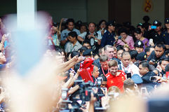 Steven Gerrard   w Siriraj Szpitalny Bangkok TAJLANDIA obraz stock