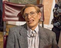Steven Hawking. Wax figure in Madame Tussauds museum stock images