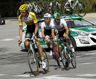 Steven Kruijswijk, Lluis Mas and Fumiyuki Beppu riding Stock Photo
