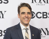 Steven Levenson. Steven Levenson arrives for the 2017 Tony Awards Meet the Nominees Press Junket at the Sofitel New York Hotel on May 3, 2017.  Levenson was Royalty Free Stock Photos