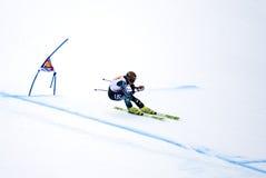 Steven Nyman - Fis World Cup. Steven Nyman (Usa) - Val Gardena Gröden, Italy - Super G - FIS Alpine Ski World Cup - 19 December 2008 Royalty Free Stock Image