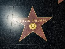 Steven Spielberg-` s Stern, Hollywood-Weg des Ruhmes - 11. August 2017 - Hollywood Boulevard, Los Angeles, Kalifornien, CA Lizenzfreies Stockbild