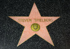 Steven Spielberg Star en el paseo de Hollywood de la fama Imágenes de archivo libres de regalías