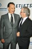 Steven Spielberg, Tom Hanks, quatro estações Fotografia de Stock