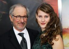 Steven Spielberg y Destry Allen Spielberg Fotos de archivo libres de regalías