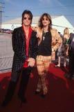 Steven Tyler y Joe Perry de Aerosmith Imágenes de archivo libres de regalías
