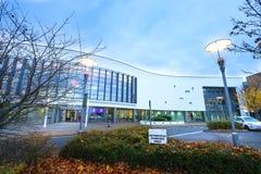 STEVENAGE,UK - NOVEMBER 4, 2016 North Hertfordshire College in the evening. STEVENAGE, UK - NOVEMBER 4, 2016 North Hertfordshire College in the evening Royalty Free Stock Photography