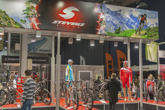 Stevens Bikes booth at bike trade show Royalty Free Stock Image