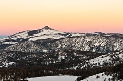 Stevens Peak bei Sonnenuntergang Lizenzfreie Stockfotos