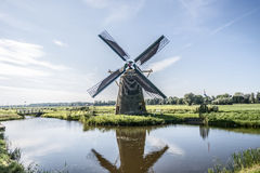 Stevenshofjesmolen Leiden. The function of this windmill is to keep the polders dry. It is full functional Stock Photography
