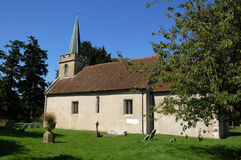 Steventon Church of Jane Austen. The church of Saint Nicholas in the village of Steventon in Hampshire.  The novelist Jane Austen regularly attended this church Royalty Free Stock Photo