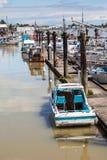 Steveston渔人码头村庄在里士满, BC 库存照片