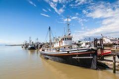 Steveston渔人码头村庄在里士满, BC 库存图片