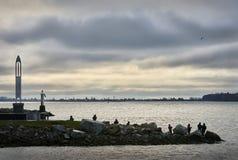 Steveston钓鱼者,里士满, BC 免版税库存图片
