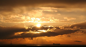 steveston ηλιοβασίλεμα Στοκ Εικόνες