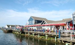 Steveston. Is a little fisher area around Vancouver.  Good restaurant, boats and fishing are commun Royalty Free Stock Photo