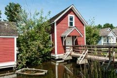 Steveston - casas históricas do beliche fotografia de stock