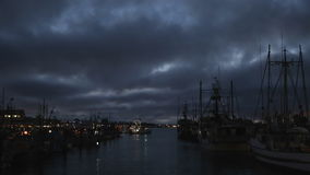 Steveston Fishboat, Early Morning Departure stock video footage