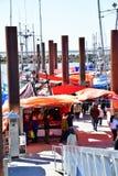Steveston fiskares hamnplats arkivfoto