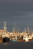 Steveston Harbor, Busy Docks, Vancouver vertical Stock Photography