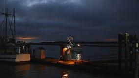 Steveston Harbor, Early Morning Departure stock video