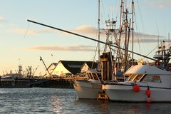 Steveston Harbor, Fisherman's Docks, BC Stock Photography