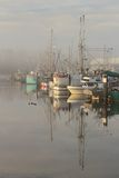 Steveston Harbor, Morning Fog. Early morning fog in Steveston Harbor, Richmond, British Columbia, Canada near Vancouver. Located at the mouth of the Fraser River Royalty Free Stock Image