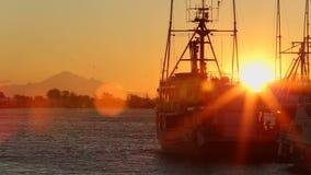 Steveston Harbor Sunrise stock footage
