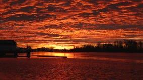 Steveston Harbor Sunrise stock video footage