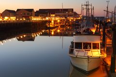 Steveston Landing Dawn, British Columbia Stock Image