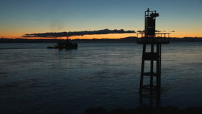 Steveston Navigation Aid, Fraser River Traffic stock footage