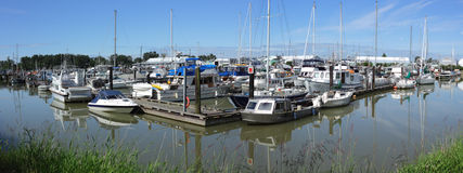 Steveston Paramount Marina Panorama Royalty Free Stock Photography
