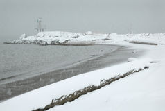 Steveston Snow, Garry Point, Richmond Stock Image