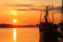 Steveston Sunrise Royalty Free Stock Photography