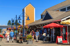 Steveston Village Stock Photo