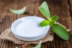 Stevia (as granular; selective focus) Royalty Free Stock Photos