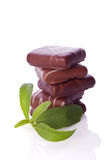 Stevia as sweetener for chocolate cookies Stock Images
