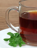 Stevia with cup of tea Stock Images