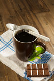 Stevia diet chocolate. Diet chocolate and coffee with natural sweetener stevia Stock Image