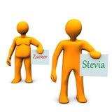 Stevia et sucre Photographie stock libre de droits