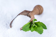 Stevia (granular; selective focus) Royalty Free Stock Image