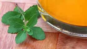 Stevia with juice Royalty Free Stock Images