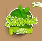 Stevia label, logo, sticker. Royalty Free Stock Photo