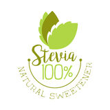 Stevia natural sweetener logo. Healthy product label vector Illustration Stock Images