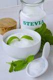 Stevia Powder. Natural Sweetener. Royalty Free Stock Photography